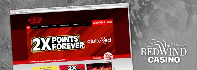Red Wind Casino New Web Design