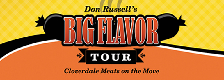 Don Russell's Big Flavor Tour is making its way across the upper Midwest in style.
