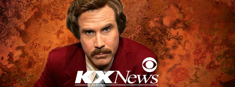 Ron Burgundy for Anchorman 2 marketing